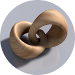 Wooden rings intertwined